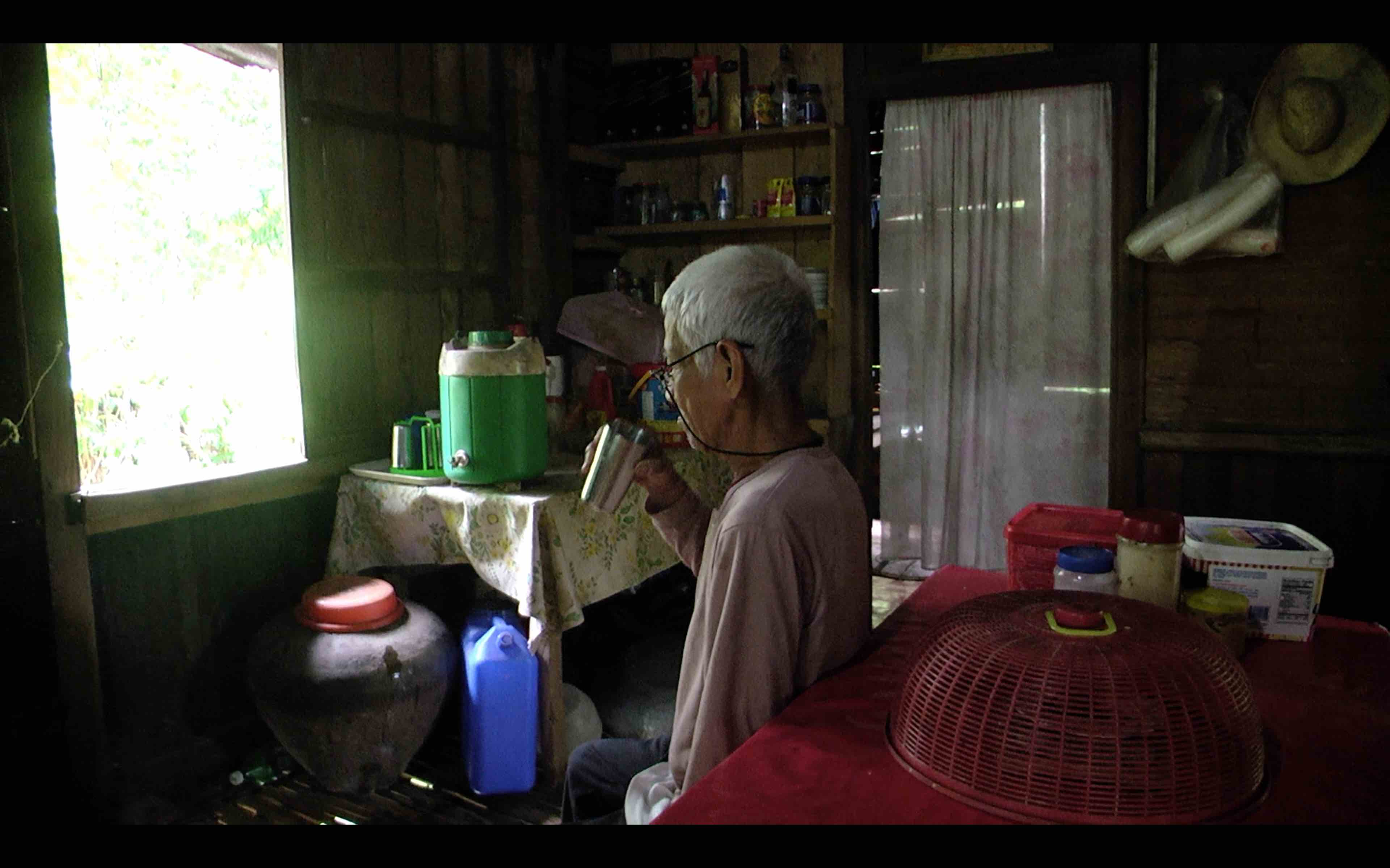 ALONE. Ruben Rasay, 69, now lives alone in his home after his wife died. When his health allows him to, he still makes copra.