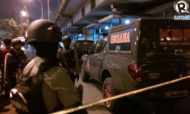 Mobil GEGANA telah tiba di lokasi ledakan. Foto oleh Diego Batara/Rappler