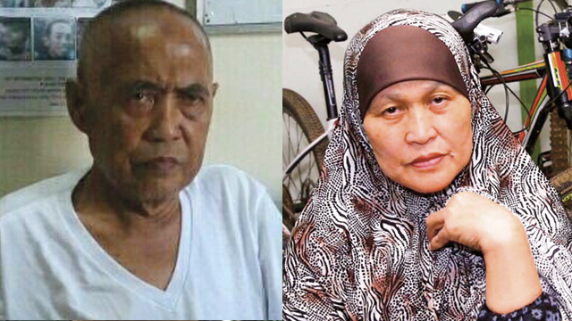 PATRIARCH AND MATRIARCH. Cayamora (L) and Farhana (R) Maute, parents of the notorious Maute Brothers. Sourced photo