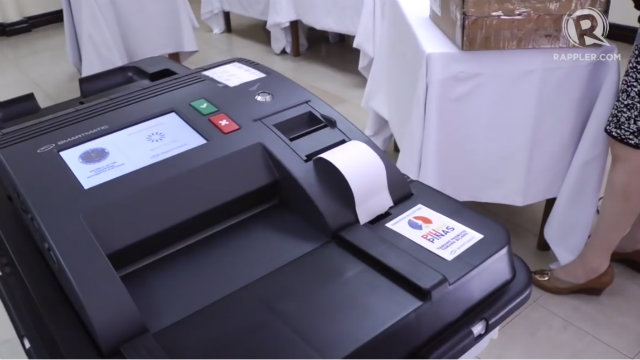This is what the Vote Counting Machine (VCM) looks like.