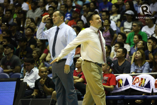 ELIMINATED? Coach Alex Compton's Aces are the 12th team in PBA Finals history to go down 0-3. Photo by Josh Albelda/Rappler