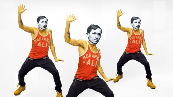 PAST TO PRESENT. Jose Rizal goes on a dance craze through #RP612fic! (Screengrab courtesy of Twitter)