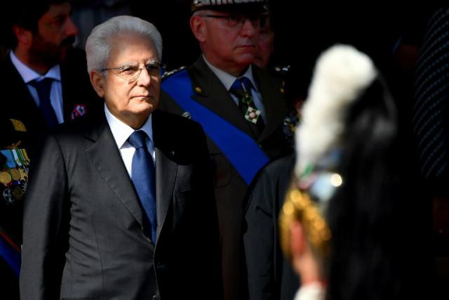 ITALIAN LEADER. In this file photo, Italy's President Sergio Mattarella (L) attends a ceremony to mark the anniversary of the Italian Republic (Republic Day) on June 2, 2018, in Piazza Venezia in Rome. Photo by Alberto Pizzoli/AFP