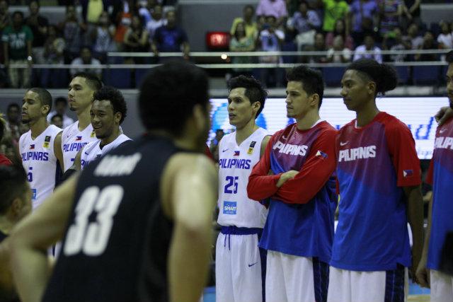 Gilas Pilipinas watches as the Wellington Saints perform the Haka. Photo by Czaesar Dancel/Rappler