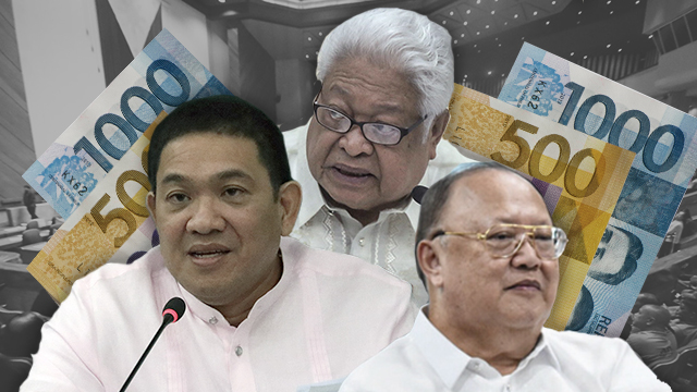 THE HOUSE TEAM. The congressmen tasked to end the budget deadlock with the Senate are Representatives Rolando Andaya Jr, Edcel Lagman, and Ronaldo Zamora. File photos by Rappler