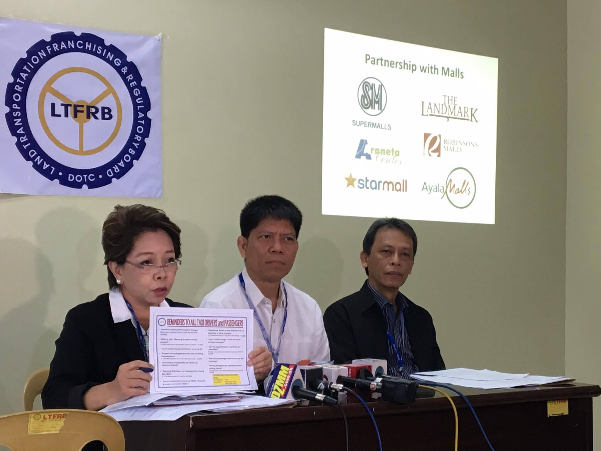 OPLAN ISNABERO. The Land Transportation Franchising and Regulatory Board launches its Oplan Isnabero on December 14, 2016 against erring taxi drivers nationwide. Photo by Khristine Montenegro/Rappler