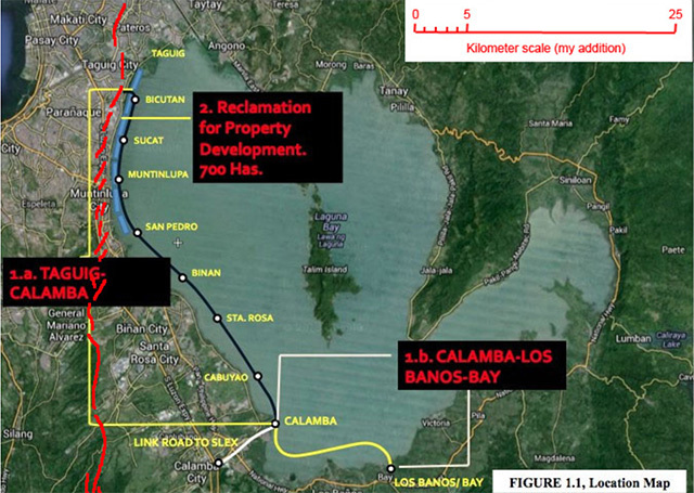 NO TAKERS. The Laguna Lakeshore Expressway Dike deal was the 'most complicated' PPP project thus far. Image from DPWH website