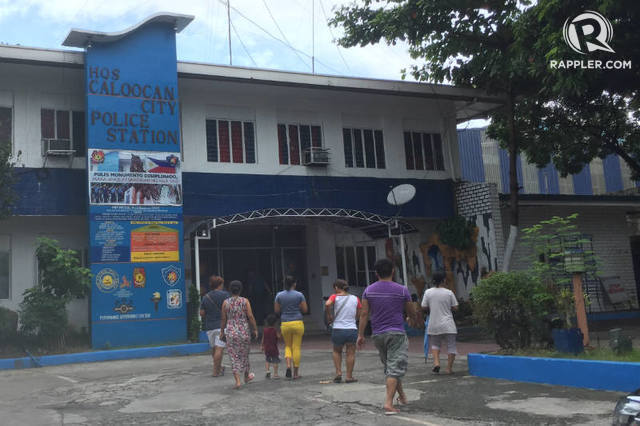 AWARDED. Caloocan City Police Station is visited by residents. Rappler file photo