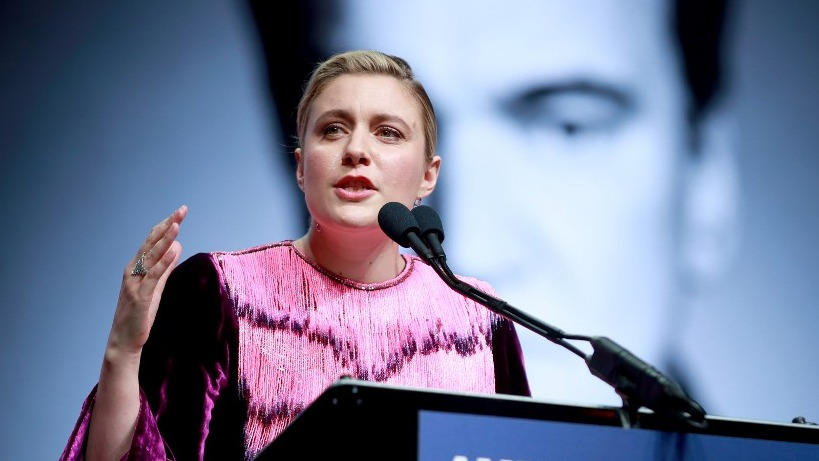 DISAPPOINTED. Hollywood director Greta Gerwig speaks about the awards snub for her latest film, Little Women. Photo by Rich Fury/Getty Images North America/AFP