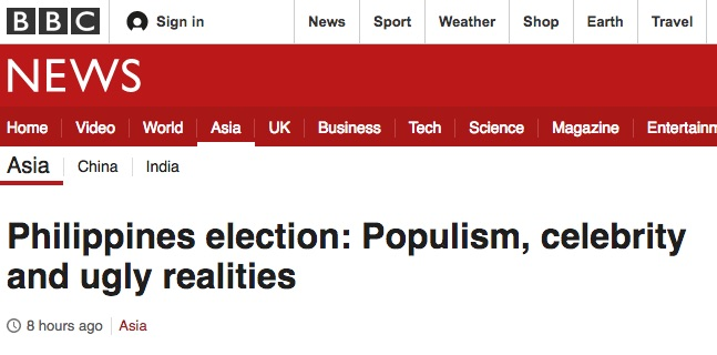 CHANGE. Foreign media says voters are scrambling for change. Screenshot from BBC