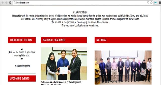 Website Brudirect meminta maaf atas artikel yang menuduh Menteri BUMN Rini Soemarno terlibat dalam kasus korupsi. Foto dari website Brudirect