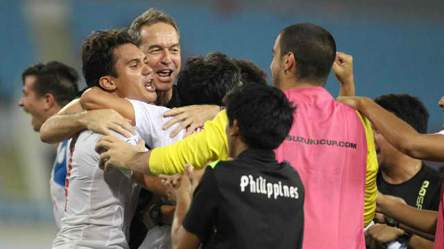 HOME SWEET HOME. The Azkals may continue playing AFC Suzuki Cup games on their home field. File photo from AFF Suzuki Cup's Twitter