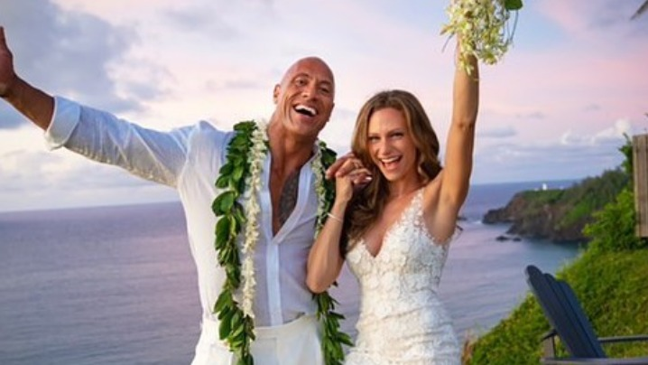 NEWLY-WEDS. Dwayne 'The Rock' Johnson is now married to his longtime partner, Lauren Hashian. Photo from The Rock's Instagram account
