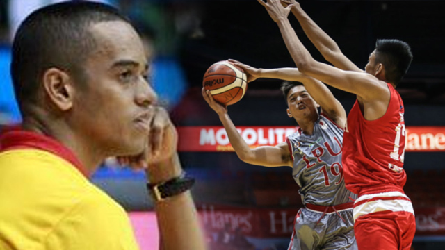 MY FAULT. Lyceum coach Topex Robinson blames only himself for their loss in Game 1, and their first this season, to San Beda in the NCAA finals