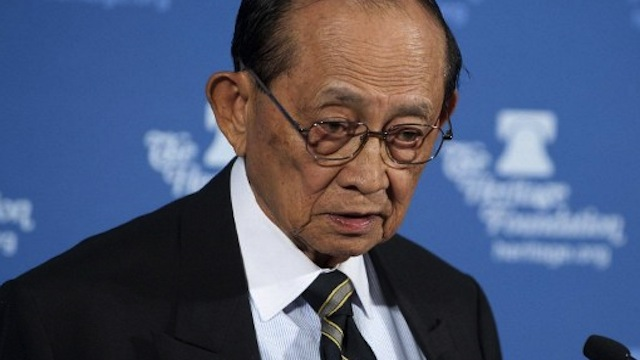 FVR. Photo of former president Fidel Ramos by Agence France-Presse
