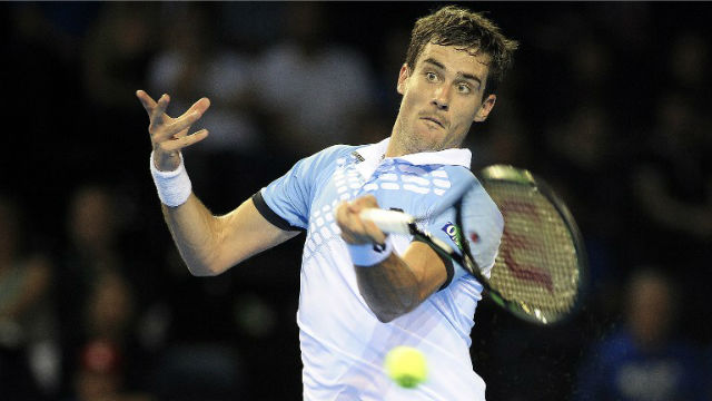 STEPPING UP. A win for Guido Pella improves Argentina's chances for the Davis Cup final. Photo by Andy Buchanan/AFP