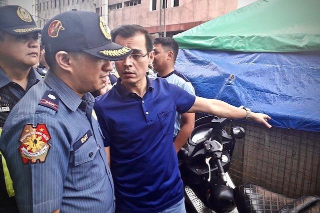 TANDEM. Mayor Isko Moreno and Major Rosalino Ibay Jr in a clearing operation in Manila. Photo from Isko Moreno's Facebook page