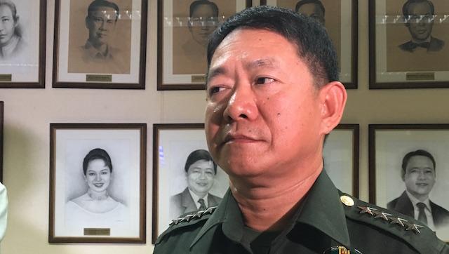 STEADY, UNFAZED. File photo of Armed Forces chief General Eduardo Au00f1o. Rappler photo