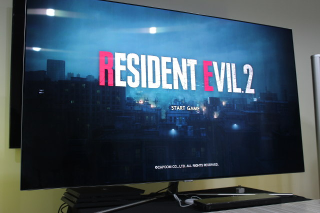 NEW GAME. The title screen for the reimagning of Capcom's 'Resident Evil 2.' Photo by Kyle Chua