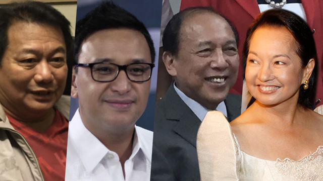 THE ARROYO CONNECTION. Former president Gloria Arroyo previously gave government positions to House Speaker Pantaleon Alvarez, Deputy Speaker Miro Quimbo, and House Minority Leader Danilo Suarez.