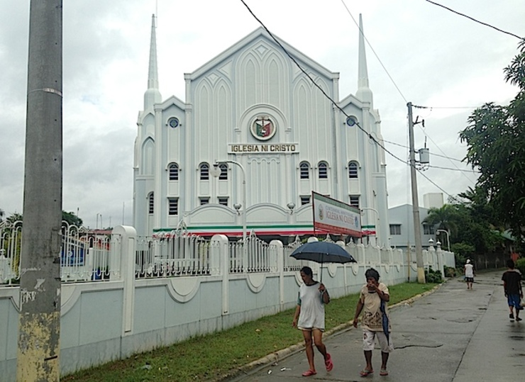 ERAP CITY: Iglesia ni Cristo has a number of churches inside the Montalban's socialized housing city. Rappler photo