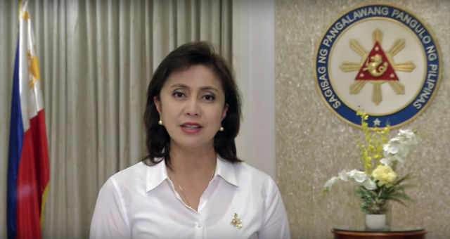 ANTI-DRUG WAR. Robredo criticizes the war on drugs in a video played on the sidelines of a UN meeting. Screenshot from the OVP