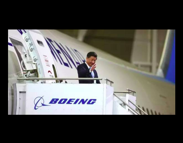 President's choice. Chinese President Xi Jinping checks out the Boeing aircraft being built for XiamenAir. Photo from Xiamen Airlines Facebook