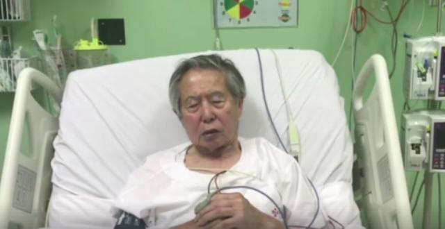 APOLOGY. Ex-Peru leader Alberto Fujimori asks for forgiveness. Screenshot from FB video