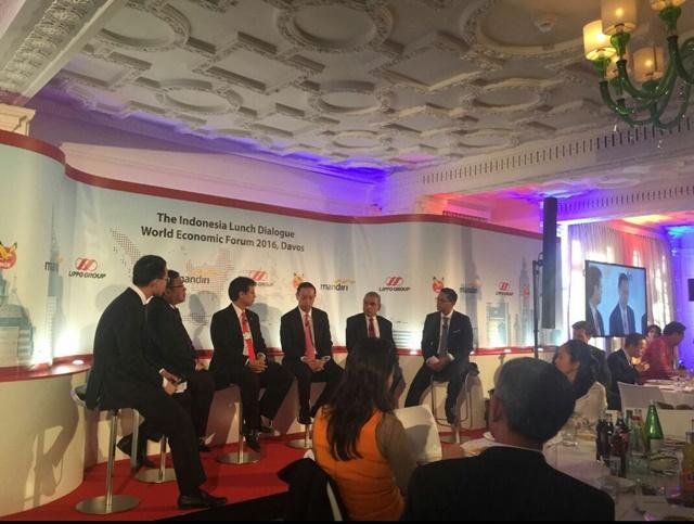 WEF 2016. Indonesia Lunch Dialog Forum Ekonomi Dunia (WEF) 2016 di Davos, Swiss yang diikuti oleh Menteri Perdagangan, Thomas Lembong. Foto oleh Made Marthini/Kementerian Perdagangan