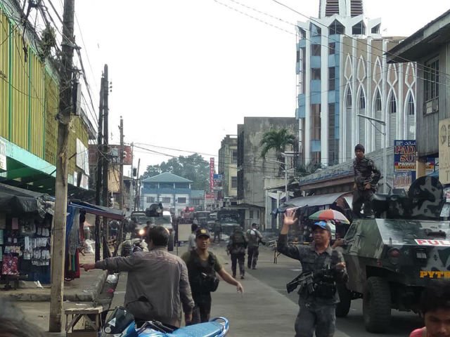 ATTACKS. Jolo Cathedral has been on the receiving end of attacks throughout the years. Photo from AFP Westmincom