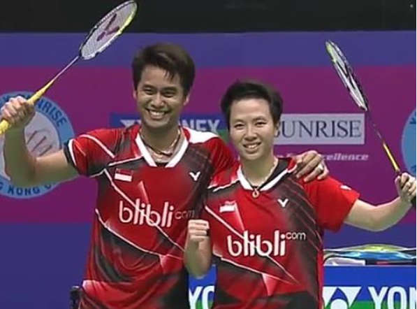 Tontowi Ahmad/Liliyana Natsir, berhasil menyabet gelar juara dalam turnamen Hong Kong Open 2016, Minggu (27/11). Foto diambil dari natsirliliyana/Instagram