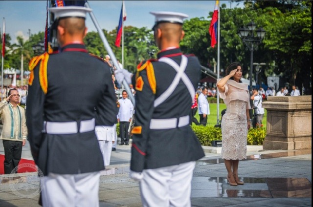 119TH INDEPENDENCE DAY. Vice President Leni Robredo leads the annual Independence Day rites at the Rizal Park in Luneta. Photo from the Office of the Vice President