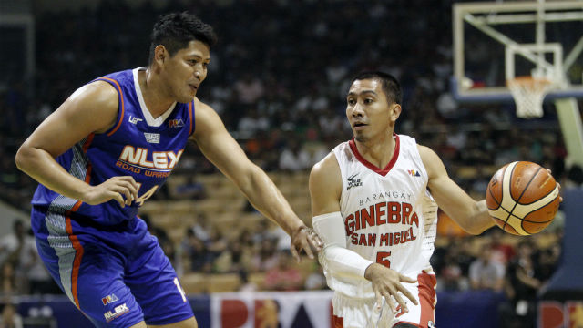 FOLLOW THE LEADER. LA Tenorio (R) was on fire against NLEX. Photo from PBA Images