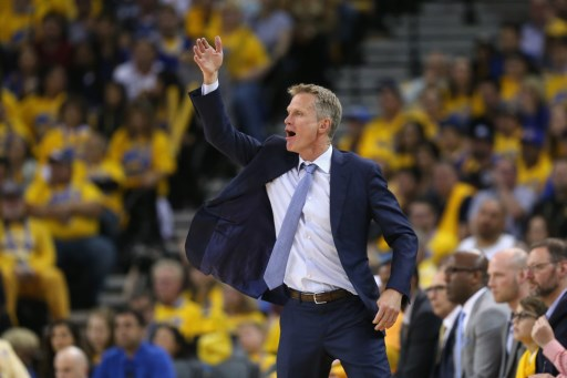 ABSENT. Steve Kerr says he is not ready to coach yet and will make his next move once the Golden State Warriors and Cleveland Cavaliers meet in Game 1 of the NBA Finals. Photo by Ezra Shaw/Getty Images North America/AFP