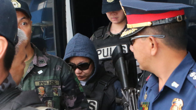 GUILTY. In 2015, Janet Lim Napoles is sentenced to life in prison for illegally detaining Benhur Luy. File photo from PNP-PIO