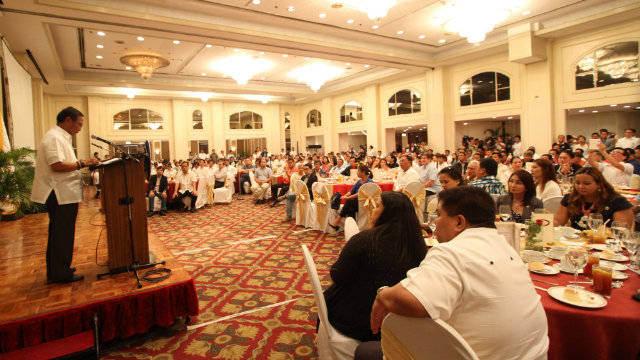 UNA IN 2016. Vice President Jejomar Binay gathers his allies on Sept 24, 2014. Photo by Albert Victoria/Rappler