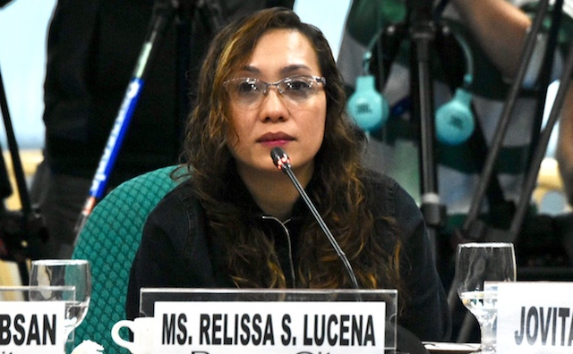 GRIEVING MOTHER. Relissa Lucena shares how she her 17-year-old daughter left home after joining militant youth group Anakbayan, during a Senate hearing on August 7, 2019. Photo by Angie de Silva/Rappler