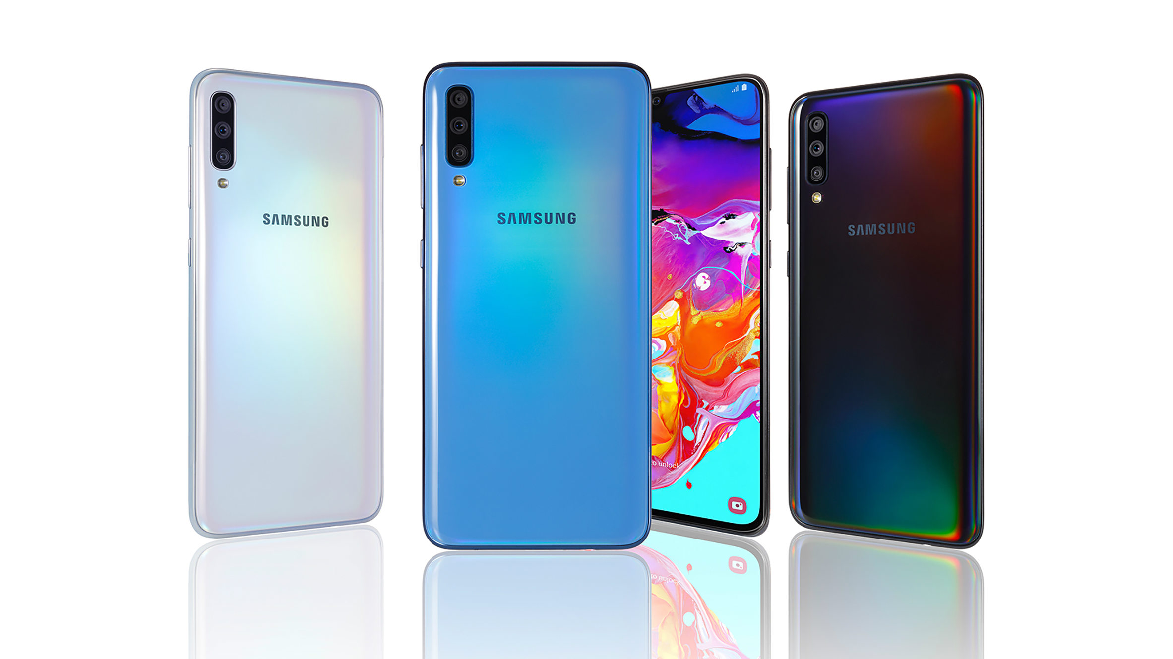 GALAXY A70. Photo from Samsung