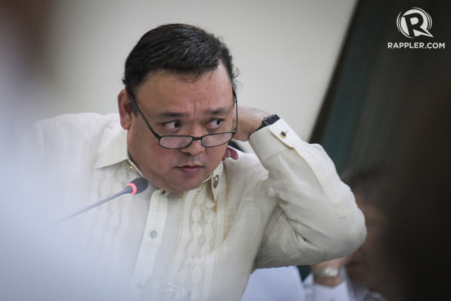 'OUT OF LINE.' Kabayan Representative Harry Roque apologizes for a statement he made against Senator Leila de Lima. Photo by LeAnne Jazul/Rappler