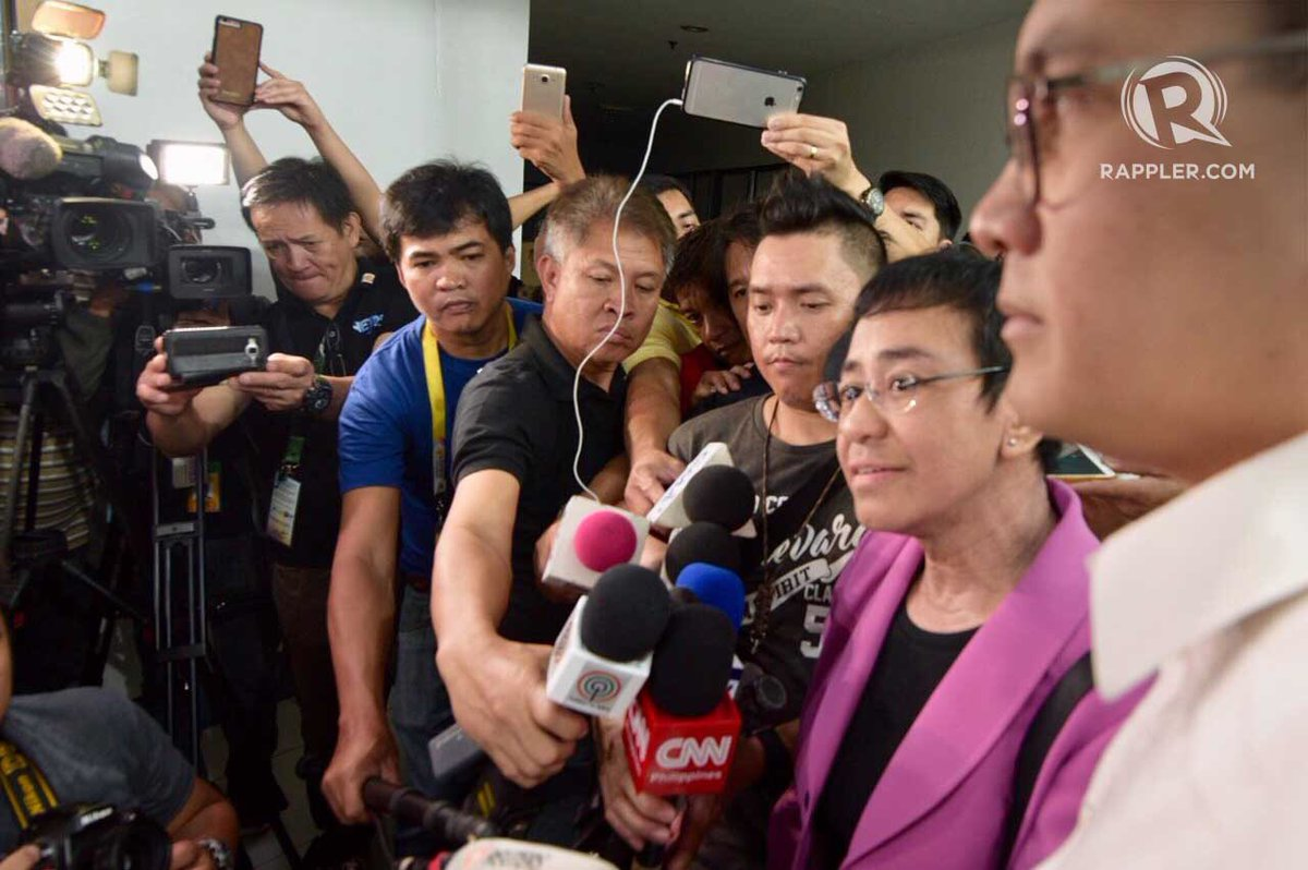 SUBPOENA. Rappler CEO and Executive Editor Maria Ressa appears at the National Bureau of Investigation on January 22, 2018. Photo by LeAnne Jazul/Rappler