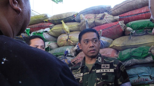 NUISANCE. Task Group Ranao deputy commander Colonel Romeo Brawner says the military is on top of the situation in Bayang, Lanao del Sur. Rappler photo