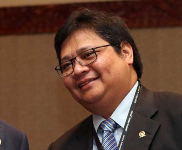 Menteri Perindustrian Airlangga Hartarto terpilih secara aklamasi sebagai Ketua Umum Partai Golkar menggantikan Setya Novanto. Foto oleh ANTARA