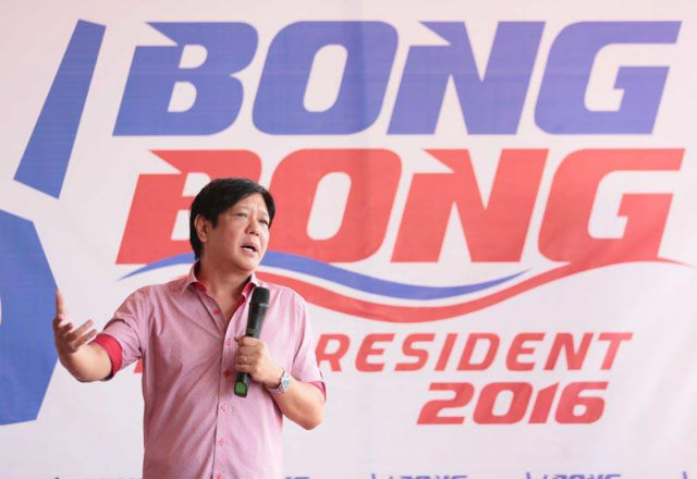 'WE'RE ELECTED.' Senator Bongbong Marcos says his family's electoral victory is a sign that Filipinos have moved on from martial law. File photo from Marcos' Facebook page