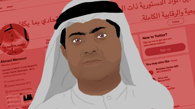 JAILED. UAE jails prominent human rights activist Ahmed Mansoor for attempting to harm his country's relations by spreading misinformation in posts on social media. Graphics by Nico Villarete