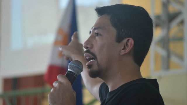 PREPAREDNESS. MovePH Executive Director Rupert Ambil asks the audience to be information advocates. Photo by Misael Ramos/ The Baybay Granary/ Rappler