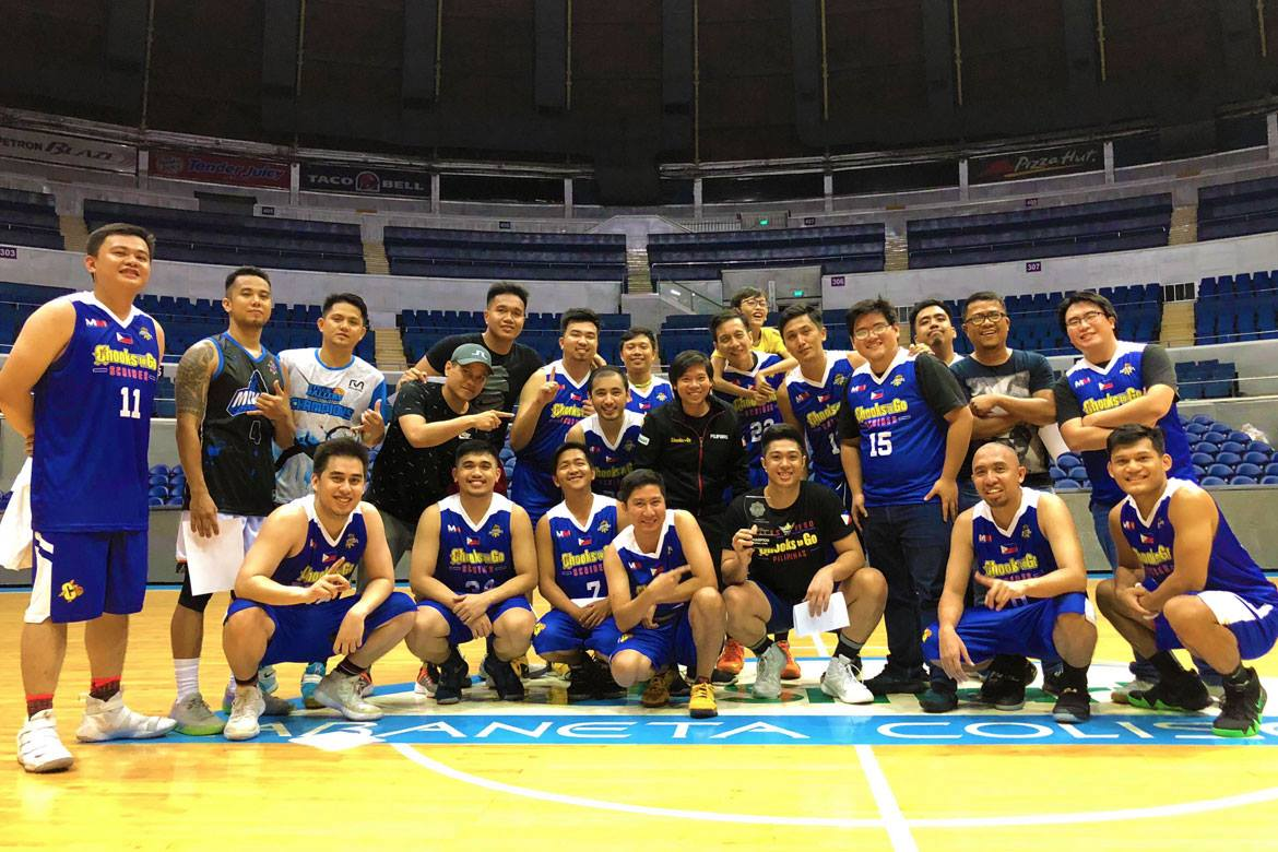 CHAMPIONS. The Chooks-To-Go Scribes win their first championship in the 2018 UAAP Goodwill Games. Photo from UAAP release