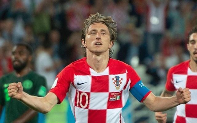 GOL. Kreator serangan Kroasia Luca Modric merayakan gol perdananya di Piala Dunia 2018. Foto dari instagram @lucamodric10