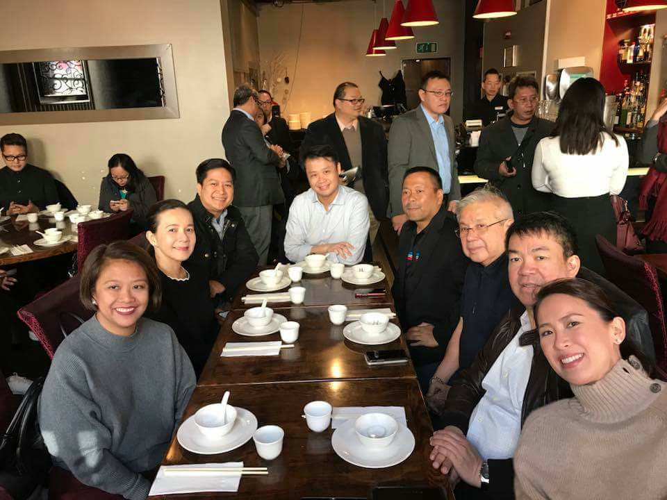 LONDON. Senators with Yu and Poe's husband Neil Llamanzares during a London trip courtesy of the UK government. Photo from Pimentel's official Facebook account