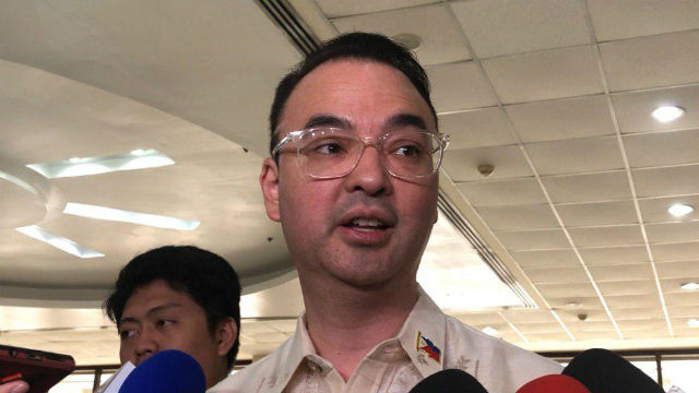 ABS-CBN ISSUE. A file photo of Speaker Alan Peter Cayetano, who is in no hurry to hold hearings on the ABS-CBN franchise. Photo by Rappler