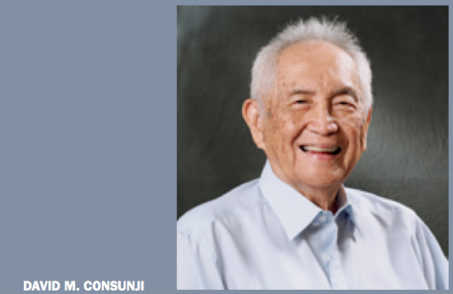INDUSTRIALIST. David Consunji was ranked by Forbes as the 6th richest Filipino at the time of his death. File photo from DMCI's 2011 annual report